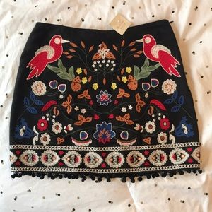 Colorful Embroidered Skirt with Tags!